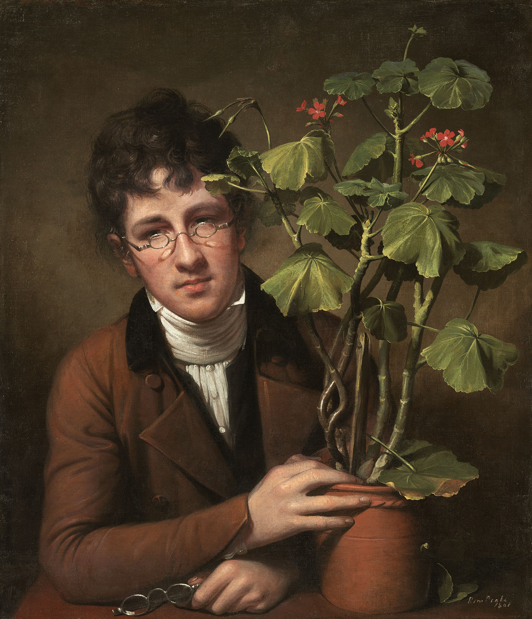 Rembrandt Peale Rubens Peale with a Geranium 1801 Patronss Permanent Fund